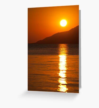 Sunrise on the Peloponnese Greeting Card