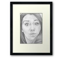Mmm ... a funny face ... Something like this? Framed Print