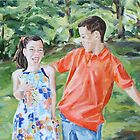 Laughing in the Park by Juliane Porter
