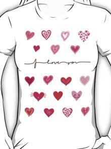 hearts (iphone case + tshirt + sticker) T-Shirt