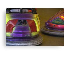 Bumper cars. Canvas Print