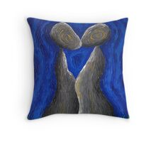 A Whisper From the Lips in Blue Dreams Throw Pillow