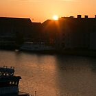 Sunrise over Inderhavnen..... Copenhagen   2011 by Brenda Dow