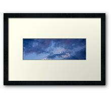 Cloud Crow Banner  Framed Print