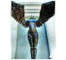 Winged Figure Poster