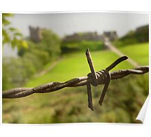 Barbed Wire At Loch Ness Poster