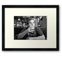 Beer Thinker 2 Framed Print