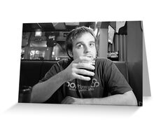Beer Thinker 2 Greeting Card