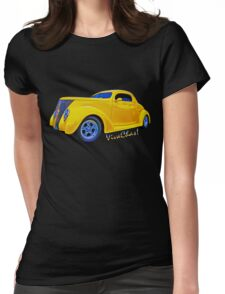 Yellow Ford Coupe T-Shirt Womens Fitted T-Shirt