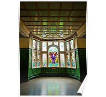 stained glass window.. Poster