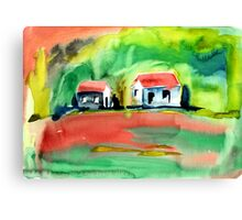 Psychedelic Cottages Canvas Print