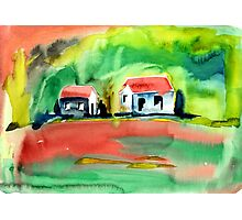 Psychedelic Cottages Photographic Print