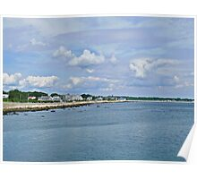 Summer Clouds Over Narragansett Beach  Poster