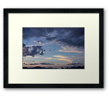 Cloud collection Framed Print