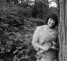 Bride and Tree (black and white) by lroof
