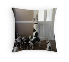 Just One More Tug and We`re Out Kids! Throw Pillow