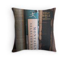 Eclectic bookshelf Throw Pillow