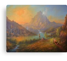 The Solitary Mountain Canvas Print