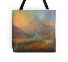 The Solitary Mountain Tote Bag