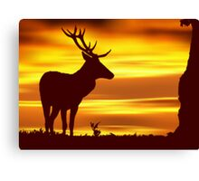 Deer at Dusk Canvas Print