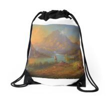The Solitary Mountain Drawstring Bag