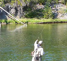 Fishin' the Yellowstone River © by jansnow