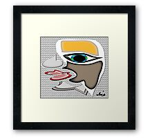 The ugly side....... Framed Print
