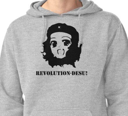 Manga Anime Girl Che Guevara Pullover Hoodie