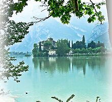 ... romantic fairytale-like fortress, Lake Toblino, Trento, Italy ~ 2 ~ by Rachel Veser