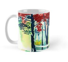 White Fence in the Forest Mug