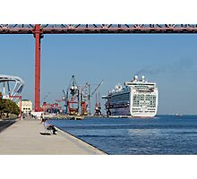 cruise ship Ventura, Port of Lisbon, Portugal Photographic Print