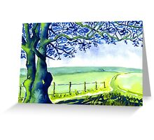 Country Lane Peak District Derbyshire Greeting Card