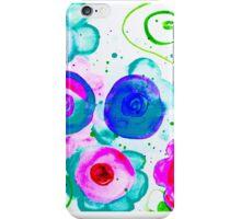 abstract dounut flowers iPhone Case/Skin