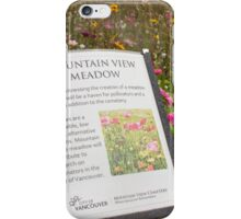 The Message of the Meadow iPhone Case/Skin