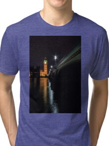 Big Ben at night Tri-blend T-Shirt