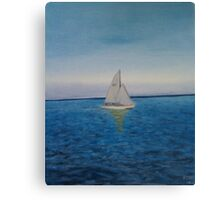 Twilight Sail Canvas Print