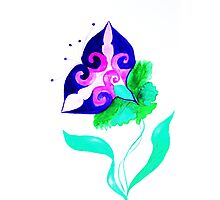 fantasy purple flower Photographic Print