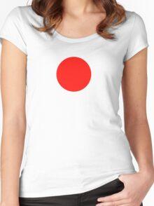 Japanese Flag Top - I Love Japan - T-shirt - Nippon Tīshatsu Women's Fitted Scoop T-Shirt