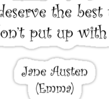 Jane Austen quote - Emma Sticker