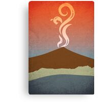 Vesuvius Minimalist Abstract Design Canvas Print