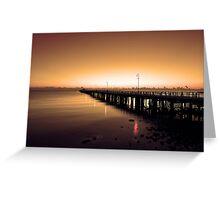 Shorncliffe Jetty at sunrise. Brisbane, Queensland, Australia. (3) Greeting Card