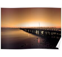 Shorncliffe Jetty at sunrise. Brisbane, Queensland, Australia. (3) Poster