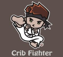 Martial Arts/Karate Boy - Jumpkick - Crib Fighter (light) Baby Tee