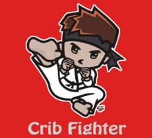 Martial Arts/Karate Boy - Jumpkick - Crib Fighter (light) Kids Tee