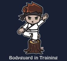 Martial Arts/Karate Boy - Crane one-legged stance - Bodyguard Baby Tee