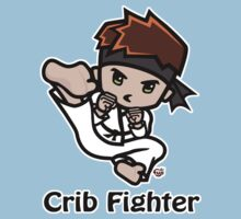 Martial Arts/Karate Boy - Jumpkick - Crib Fighter One Piece - Short Sleeve