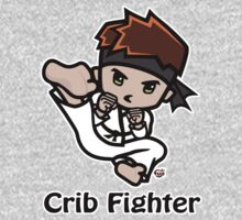 Martial Arts/Karate Boy - Jumpkick - Crib Fighter One Piece - Long Sleeve