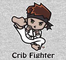 Martial Arts/Karate Boy - Jumpkick - Crib Fighter Baby Tee