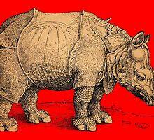 Vintage Rhinoceros Illustration by monsterplanet