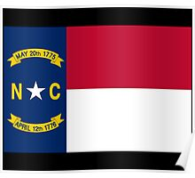 North Carolina USA State Charlotte Flag Bedspread T-Shirt Sticker Poster